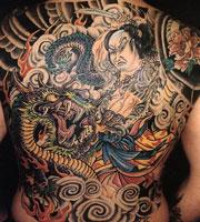 Татуировка на спине в китайском стиле