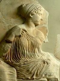 Диана (деталь бордюра в Парфеноне)